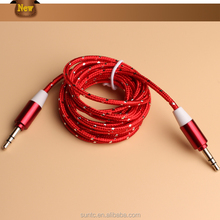 The Most Popular Low Price Fabric Braided Cord 3.5mm Round Audio Cable