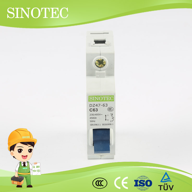 China circuit breaker ce iso9001 c45 1p changeover switch 4 pole