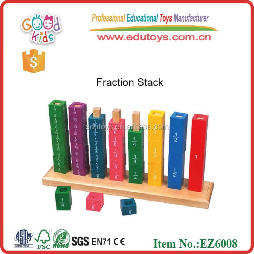 Portuguese Learning Toys : Fração matemática brinquedos educativos bloco