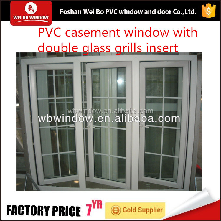 pvc window and door grill design ,China factory price lg profile upvc windows