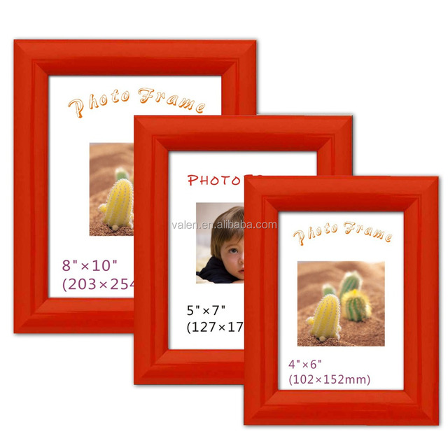 Custom red holding photo picture frame cardboard 12 x 8 photo frame
