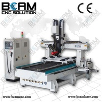 5 axis router woodworking cnc engraving machine 1325D with automatic tool changing