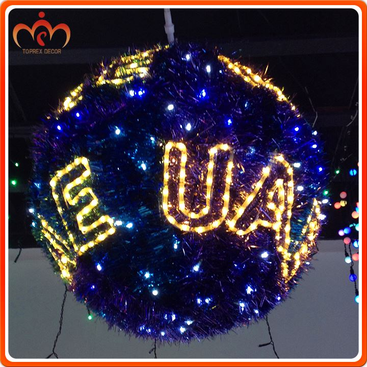Christmas decoration 28.7W color changing mood led light ball