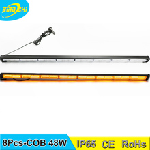 Factory 127.5cm 48W flare COB waterproof linear LED directional warning light stick for airport