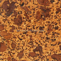 Cork floating flooring tiles, heat and sound insulation, rich color and pattern - CT001