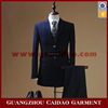 New Design Stylish Navy Blue 3 Piece Long Dress Suit Men