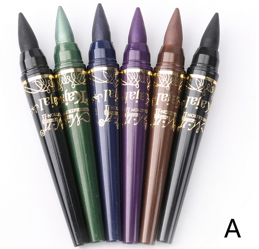 12 color waterproof color pearl pen, high gloss eyeliner, eye shadow pen