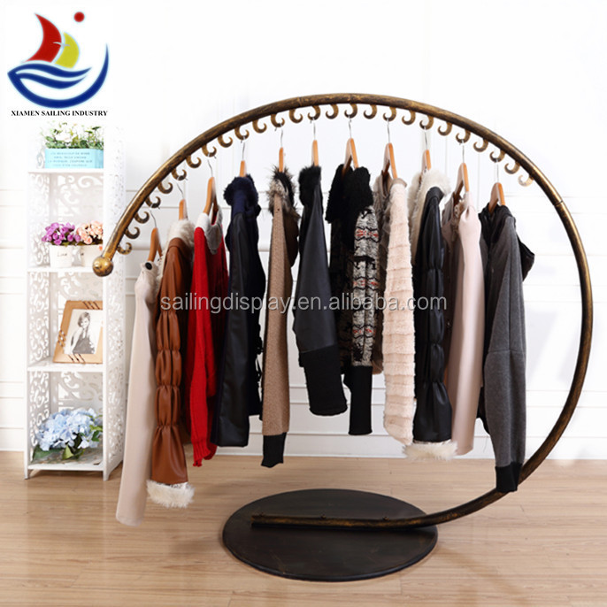 2015 New style round shape clothes display rack round hanging display stand customized size