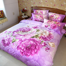 Factory price 3D home textile bed sheet set