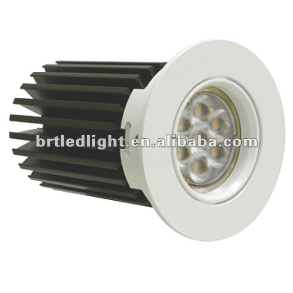 New design!! aluminum housing high power led downlight 7w