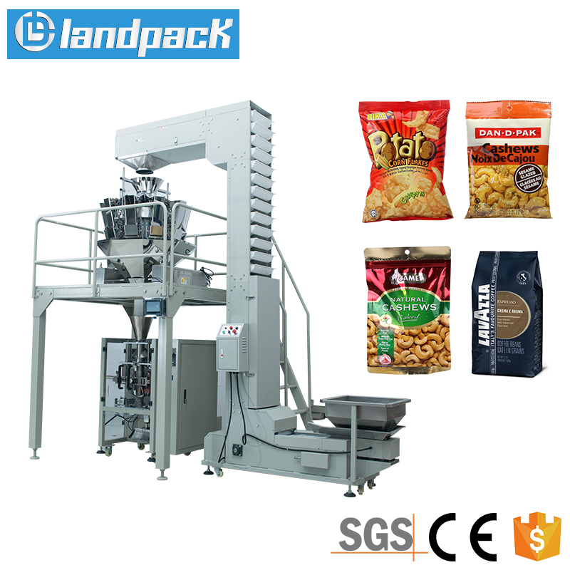 Full Automatic Nitrogen Potato Chips Packaging Machine