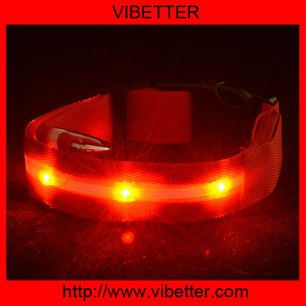glowing pet dog LED flashing collar Kung Fu Dog brand new pet blink collar lead