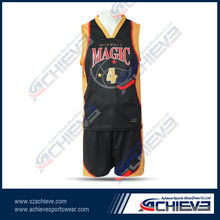 High quality basketball uniform,basketball jersey and short design with personal idea