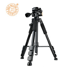 146cm Q111 Professional Aluminum Live Streaming Photographic Camera Tripod for Digital DSLR Video Camera w Gimbal Handheld Head