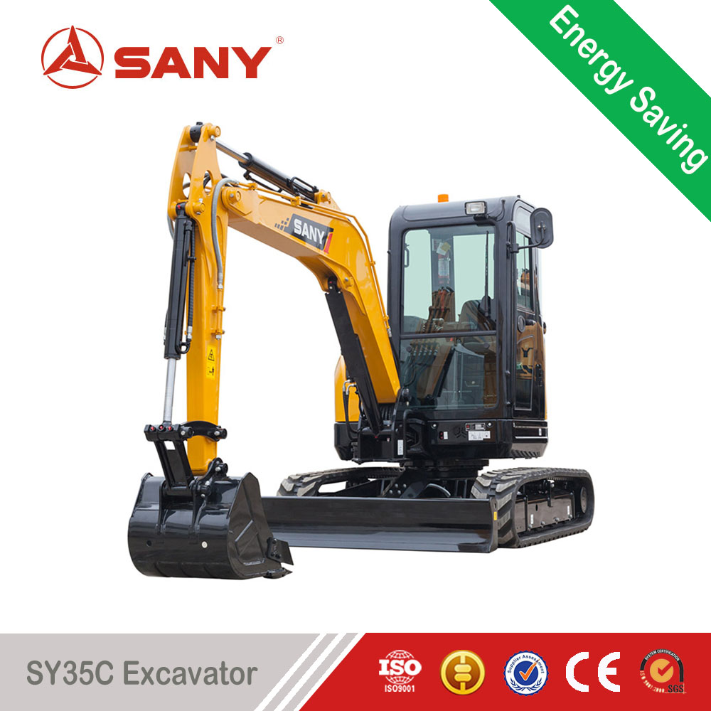 SANY SY35C 3.5t Small Trench Digger Mini Crawler Excavator for Sale