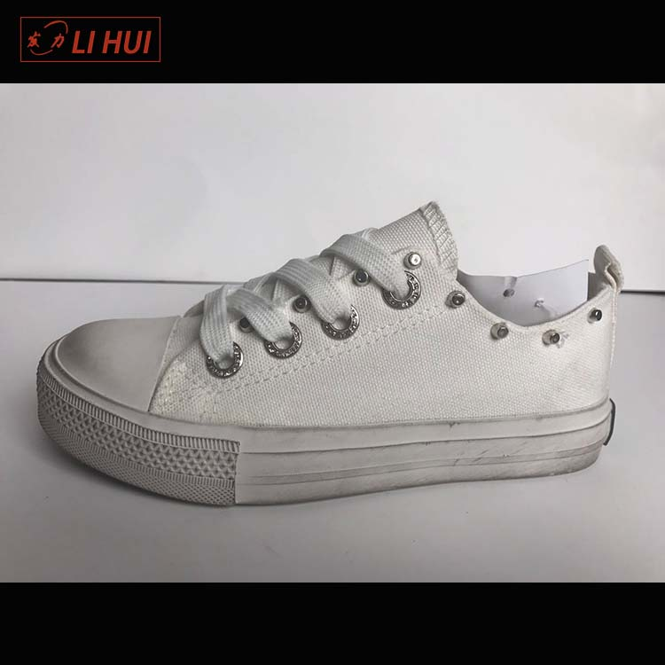 High quality wholesale printed white custom canvas dirty shoes woman