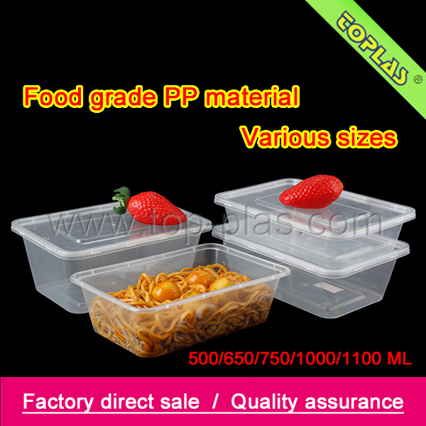The plastic disposable fast food storage container with divider