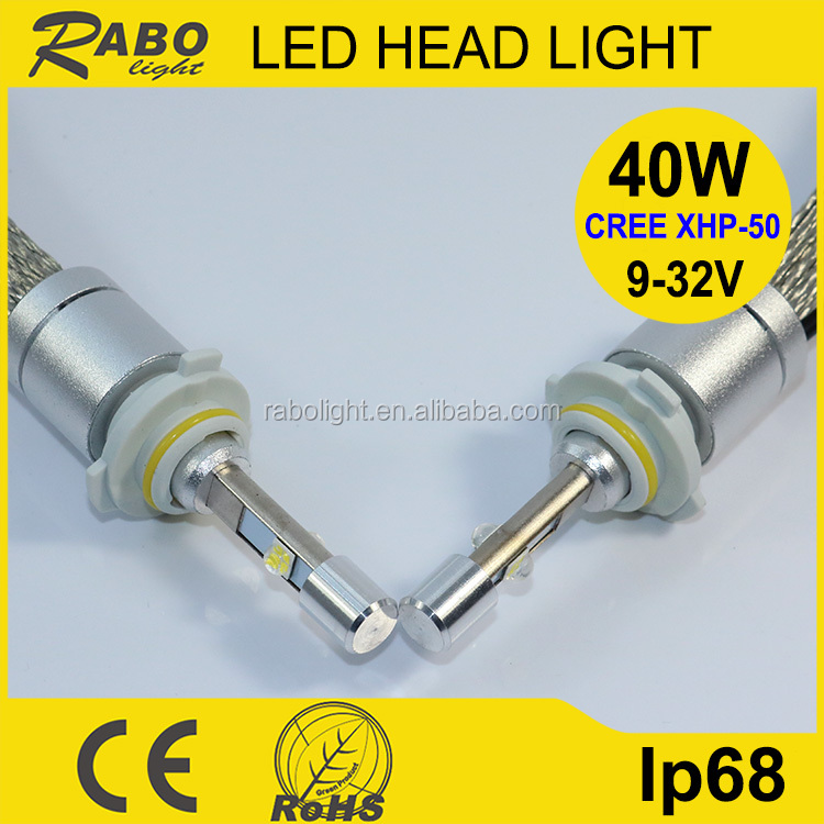 Super bright car led light 12v 40W 4800LM high lumen car led light bulbs, best price car led ligh