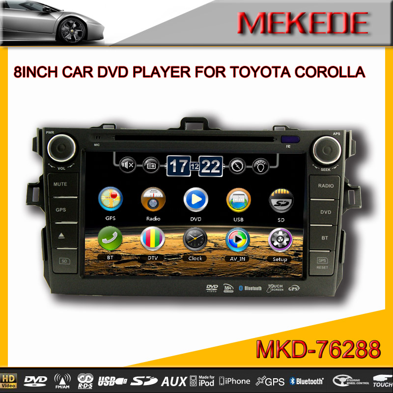 MTK 800MHZ Dual Core CAR Radio Player for TOYOTA COROLLA 2007 2008 2009 2010 2011 Support subwoofer 10EQ band