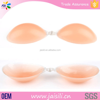 Lady sexy brest full up clear bra cups invisible silicone bra