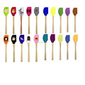 silicone spatula sets with stainless steel handle