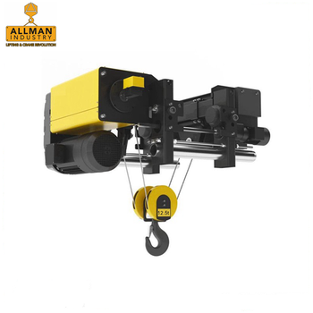 ALLMAN 2ton 3.2ton 5ton 10ton 12.5ton Europe model single girder overhead crane usage Low headroom electric wire rope hoist
