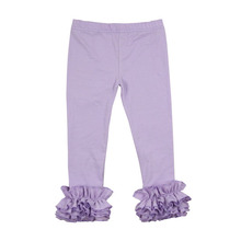 2016 Fashion ruffle pants new pants icing leggings design for girl export leftover