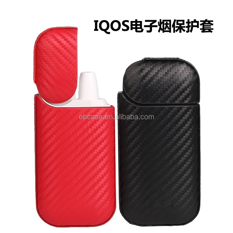 IQOS case,Carbon fiber PU leather cigarette case holder for IQOS