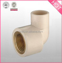 """HJ"" Hot water CPVC pipe fitting Faucet nipple elbows (copper tooth) brass female elbow"