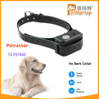 No bark collar waterproof&rechargeable remote dog training shock collar TZ-PET850 newly bark collar