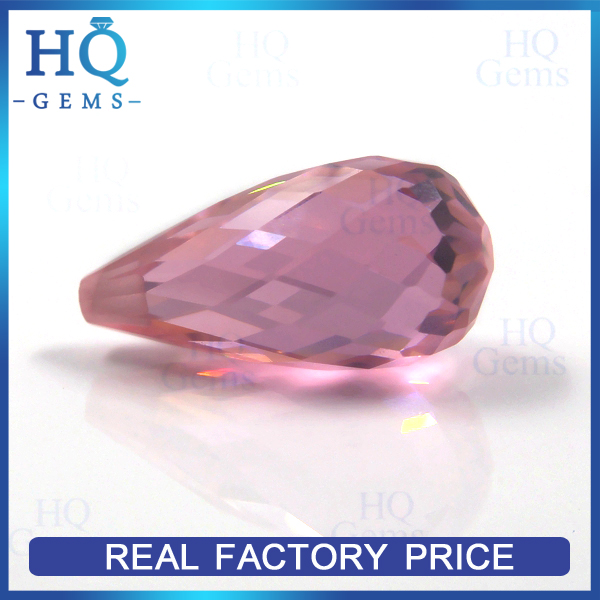 Diamond Cut Pink Loose Chear Price CZ Zircon Stones Price