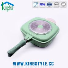 Indian style restaurant kitchen equipments, milk boiling pot square frying pan stone with lid