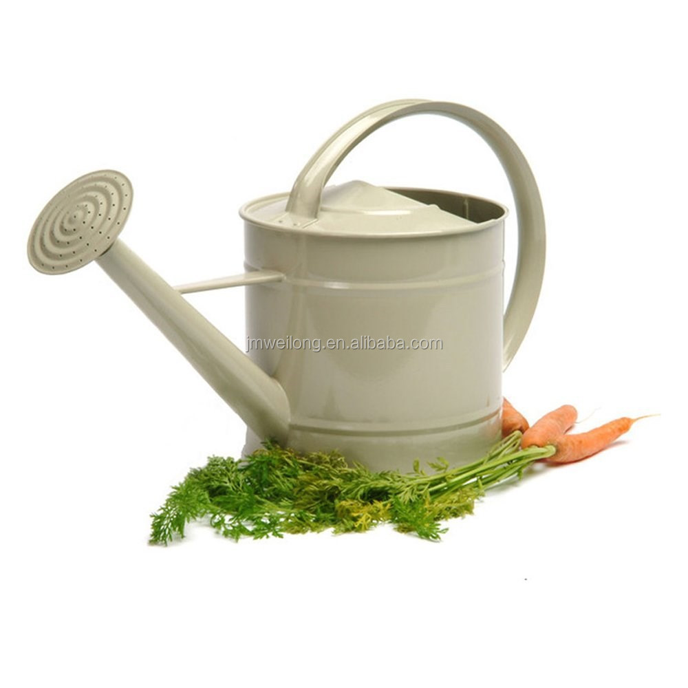 Eco-friendly Oval Metal Watering Can/ Colorful Metal Garden Toys/ Metal Flower Planter