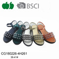 Latest beautiful fancy flat lady sandals