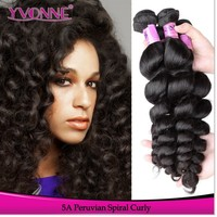 Yvonne color 1B 10-30inch grade 5A spiral curl prices for brazilian hair