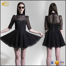 Fashion Princess adult lace puff sleeve vintage retro dress China women clothes