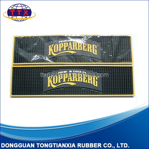 Bar Accessories Type and Eco-Friendly Feature PVC rubber bar mats
