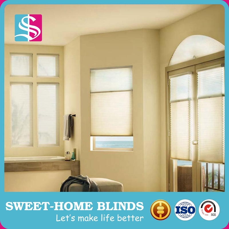 room darkening pleated blackout shades