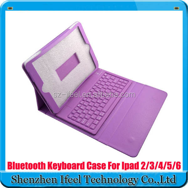 New Folio Bluetooth Leather Keyboard Case Cover for iPad Air 5th 6th