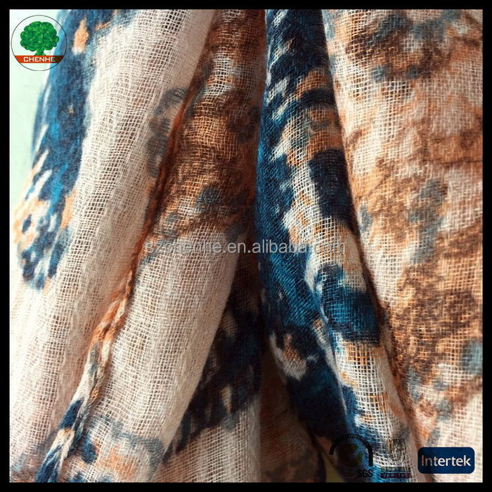 New new arrival green polyester handmade scarf