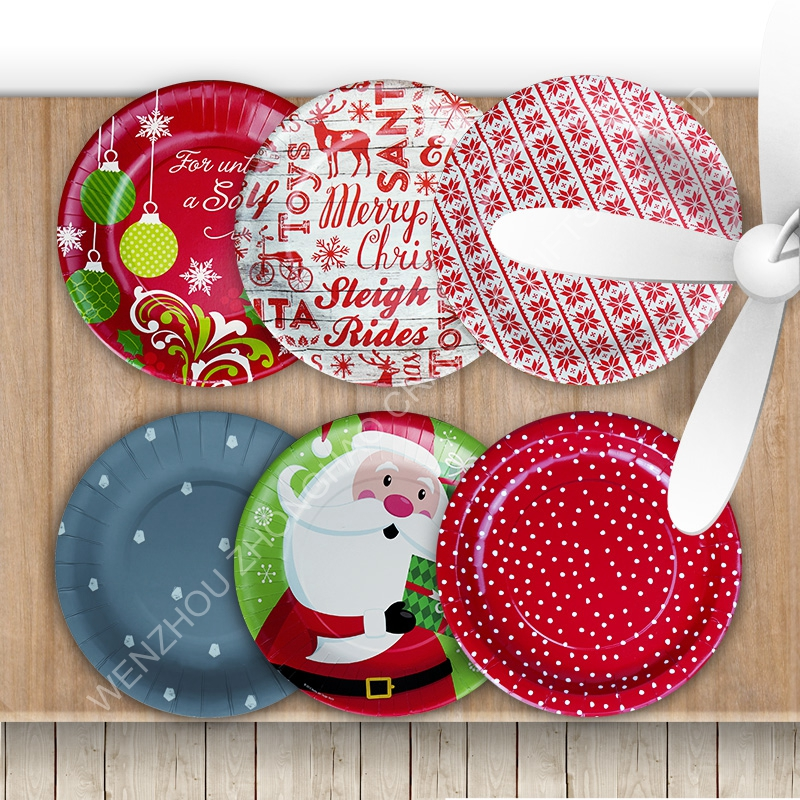 custom printed disposable paper plates/birthday party paper plates for kids