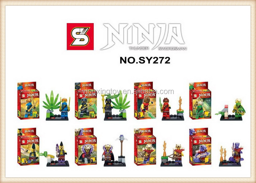 2015year hot sell SY design figure ninja building block toy