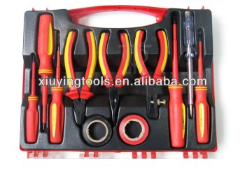 11pcs Electric Pliers Set, VDE Tools Set, Insulating Hardware Tools Kit, VDE Screwdriver