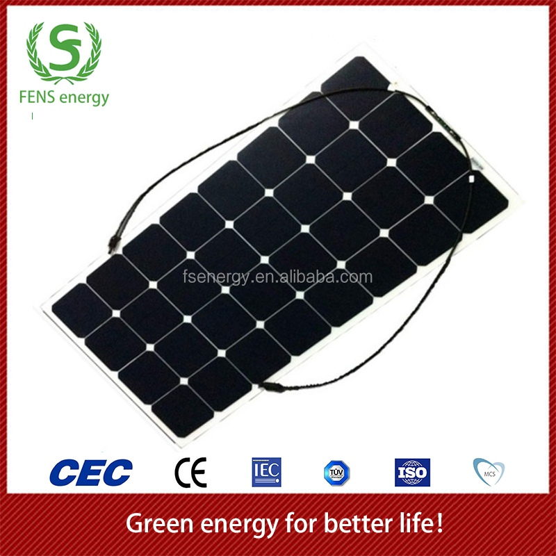 High efficiency sunpower cell semi flexible solar panel 120W