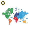 Plastic World Map Used for Home Decoration With High Quality