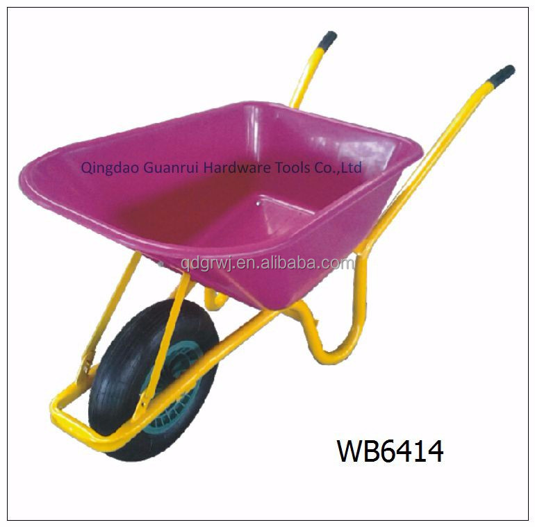 85L poly tub wheelbarrow WB6414