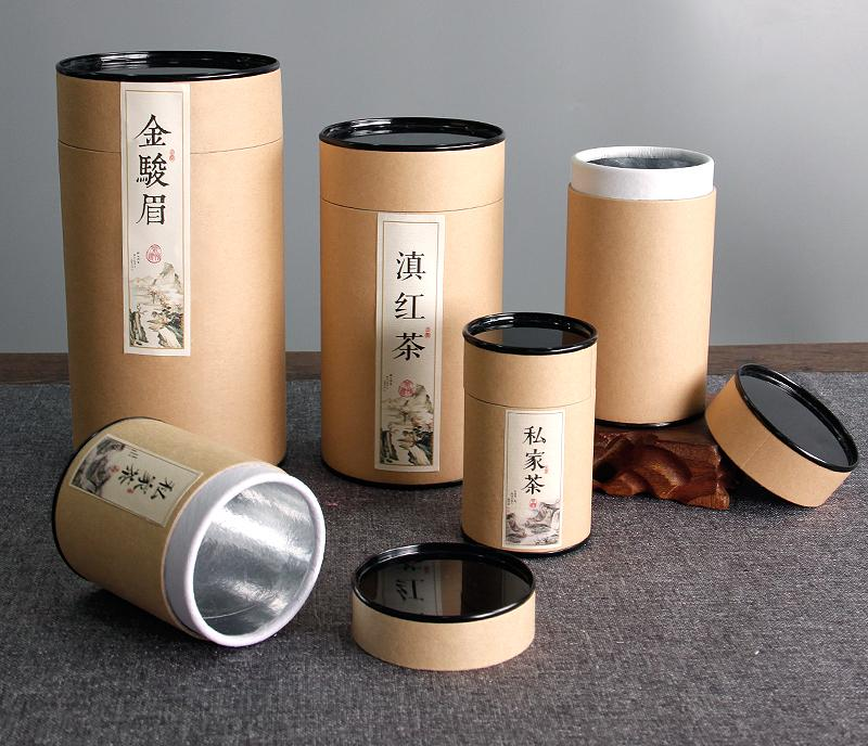 paper cylinder shaped gift box & paper round box kraft printing wholesale