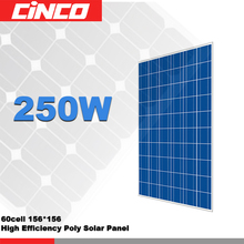 250w poly solar panel roof installation