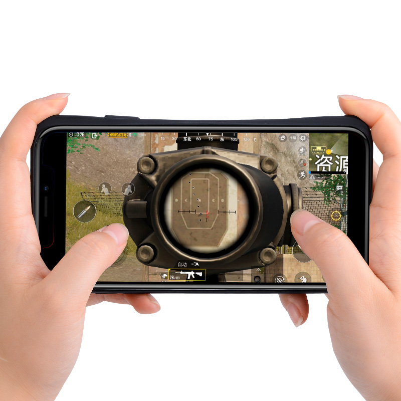 <strong>X10</strong> Portable Bluetooth Mobile game case shell with fire triggers controller for PUBG for iPhone
