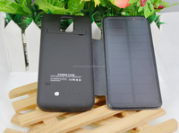 3800mah leather solar power bank case battery case for S5